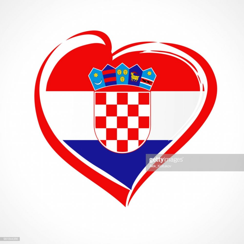 National holiday in Croatia 25 June vector greetings card. Celebrate Croatian anniversary of independence 1991